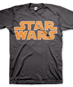 T-shirt Star Wars Classic Logo grandes Tailles de couleur Gris Foncé