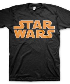 T-shirt Star Wars Classic Logo grandes Tailles de couleur Noir