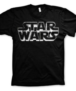 T-shirt Star Wars Logo grandes Tailles de couleur Noir