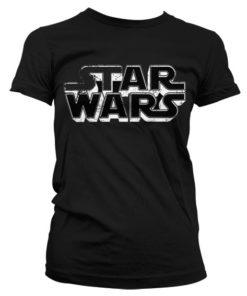 T-Shirt Star Wars Logo pour Femme de couleur Noir