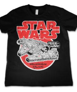 T-Shirt Star Wars - Millennium Falcon  pour enfant de couleur Noir