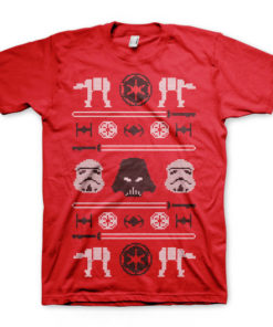 T-shirt Star Wars de couleur rouge