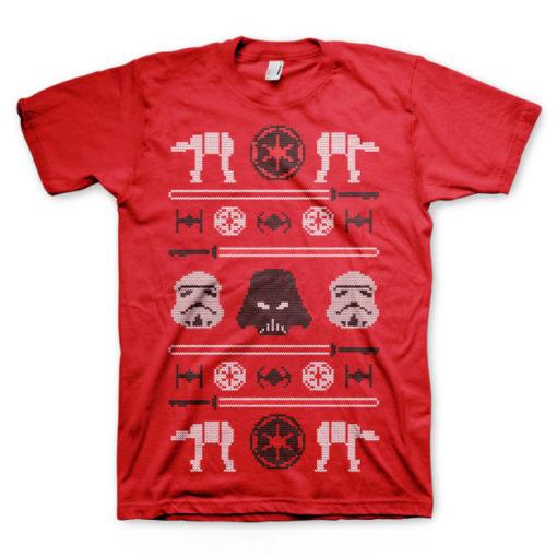 T-shirt Star Wars de couleur rouge
