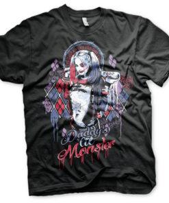 T-shirt Suicide Squad Harley Quinn grandes Tailles de couleur Noir