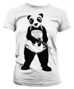 T-Shirt Suicide Squad Panda pour Femme de couleur Blanc