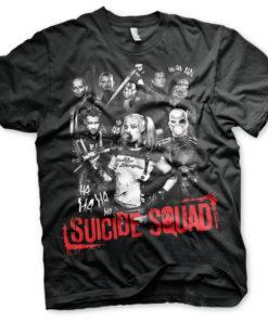 T-shirt Suicide Squad grandes Tailles de couleur Noir