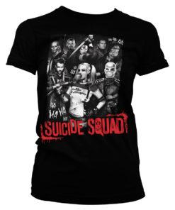 T-Shirt Suicide Squad pour Femme de couleur Noir