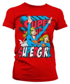 T-Shirt Supergirl pour Femme de couleur Rouge