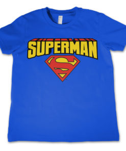 T-Shirt Superman enfant Bleu