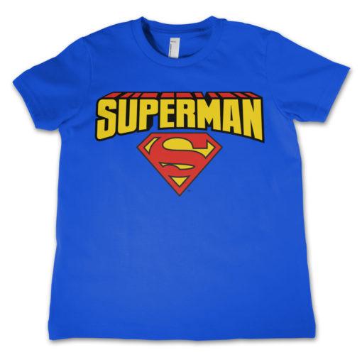 T-Shirt Superman enfant Bleu