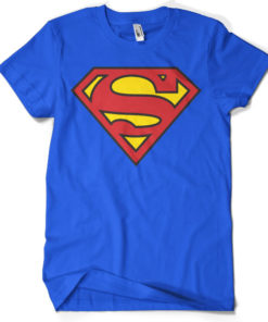 T-shirt Superman Shield grandes Tailles de couleur Bleu