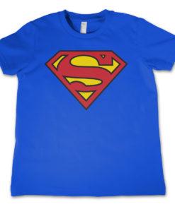 T-Shirt Superman Shield  pour enfant de couleur Bleu