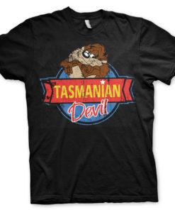 T-Shirt Tasmanian Devil de couleur Noir