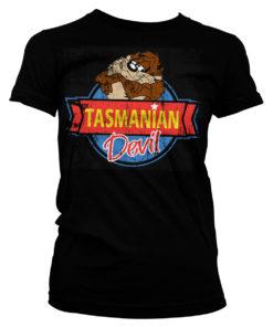 T-Shirt Tasmanian Devil pour Femme de couleur Noir