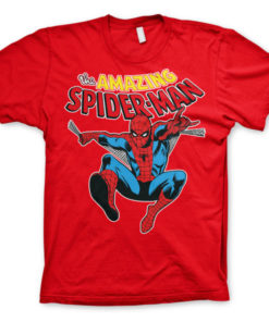 T-Shirt The Amazing Spiderman de couleur Rouge