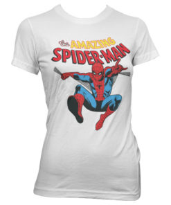 T-Shirt The Amazing Spiderman pour Femme de couleur Blanc
