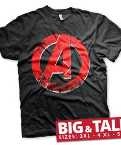 T-shirt The Avengers A Logo grandes Tailles de couleur Noir