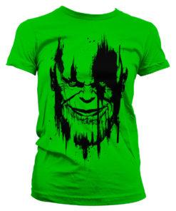 T-Shirt The Avengers - Infinity War THANOS pour Femme de couleur Vert