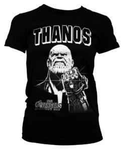 T-Shirt The Avengers - Thanos Infinity Gauntlet pour Femme de couleur Noir
