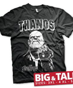 T-shirt The Avengers - Thanos Infinity Gauntlet grandes Tailles de couleur Noir