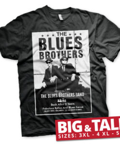T-shirt The Blues Brothers Poster grandes Tailles de couleur Noir