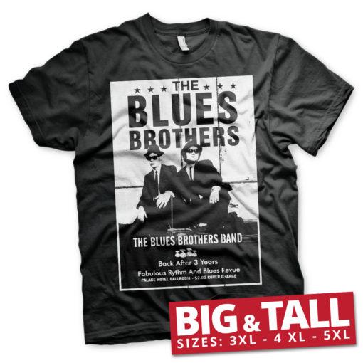 T-shirt The Blues Brothers Poster grandes Tailles de couleur Noir