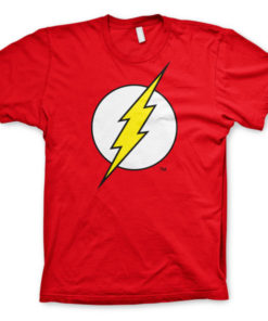 T-shirt The Flash Emblem grandes Tailles de couleur Rouge