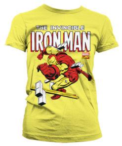 T-Shirt The Invincible Iron Man pour Femme de couleur Jaune