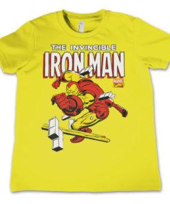 T-Shirt The Invincible Iron Man  pour enfant de couleur Jaune
