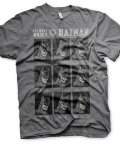 T-Shirt The Many Moods Of Batman de couleur Gris Foncé