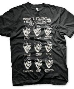 T-Shirt The Many Moods Of The Joker de couleur Noir