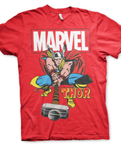 T-shirt The Mighty Thor grandes Tailles de couleur Rouge