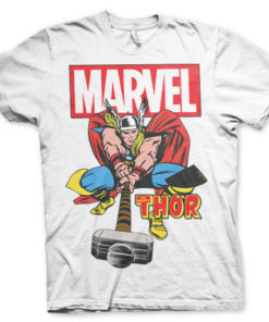 T-shirt The Mighty Thor grandes Tailles de couleur Blanc