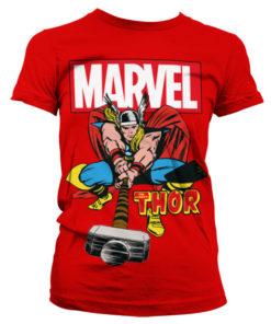 T-Shirt The Mighty Thor pour Femme de couleur Rouge