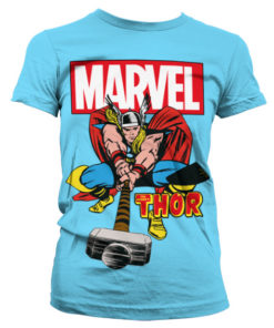 T-Shirt The Mighty Thor pour Femme de couleur Bleu Ciel