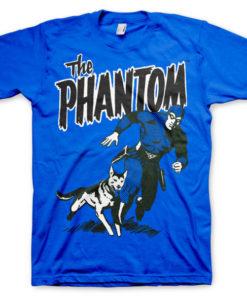 T-shirt The Phantom & Devil grandes Tailles de couleur Bleu