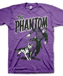 T-shirt The Phantom & Devil grandes Tailles de couleur Violet