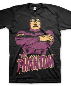 T-shirt The Phantom grandes Tailles de couleur Noir