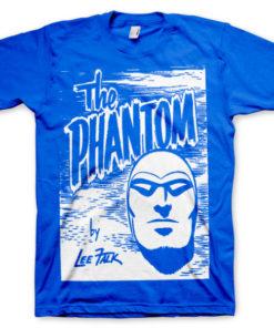 T-shirt The Phantom Sketch grandes Tailles de couleur Bleu