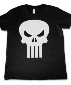 T-Shirt The Punisher Skull  pour enfant de couleur Noir