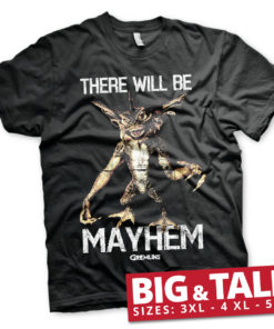 T-shirt There Will Be Mayhem grandes Tailles de couleur Noir