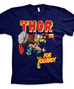 T-shirt Thor - For Asgard! grandes Tailles de couleur Bleu Nuit