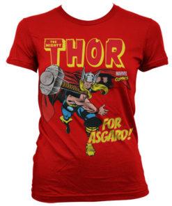 T-Shirt Thor - For Asgard! pour Femme de couleur Rouge