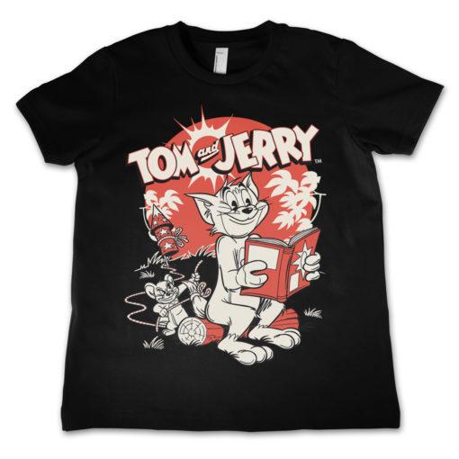 T-Shirt Tom & Jerry Vintage Comic  pour enfant de couleur Noir