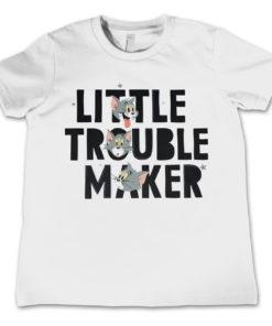 T-Shirt Tom - Little Trouble Maker  pour enfant de couleur Blanc
