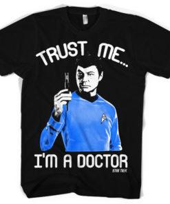T-shirt Trust Me - I?m A Doctor grandes Tailles de couleur Noir