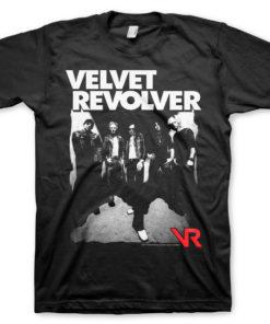 T-Shirt Velvet Revolver de couleur Noir
