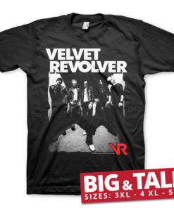T-shirt Velvet Revolver grandes Tailles de couleur Noir