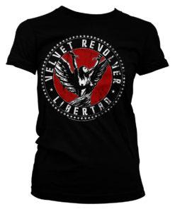 T-Shirt Velvet Revolver Libertad pour Femme de couleur Noir