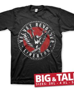 T-shirt Velvet Revolver Libertad grandes Tailles de couleur Noir